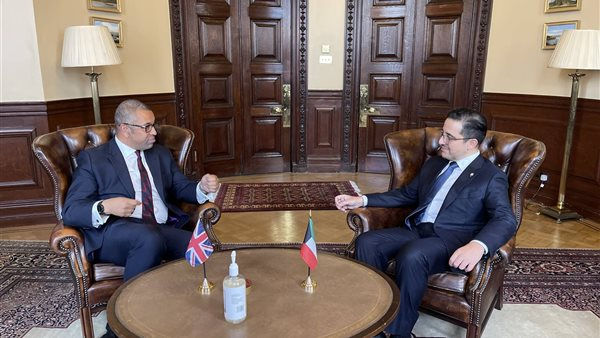 Meets Kuwaiti Foreign Minister James Cleverley during a visit to the United Kingdom