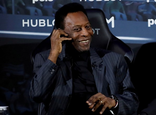 Pele recovering after surgery to remove a colon polyp