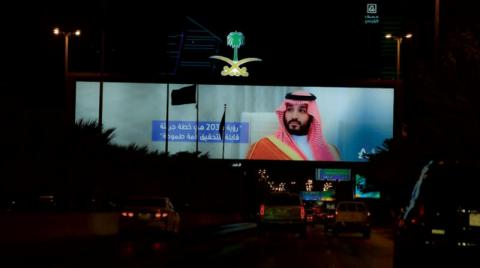 Saudi Arabia is green on its national day... and beyond