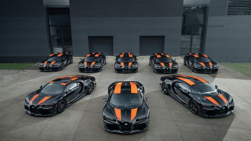 The first record holders turn to customers.  Bugatti built 8 Chiron Super Sport 300+ cars