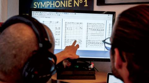 With the help of artificial intelligence... A Beethoven piece of music is born from incomplete notes