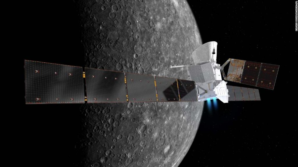 The BepiColombo mission will fly over Mercury for the first time on Friday