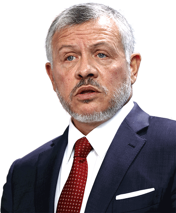 A picture of the King of Jordan