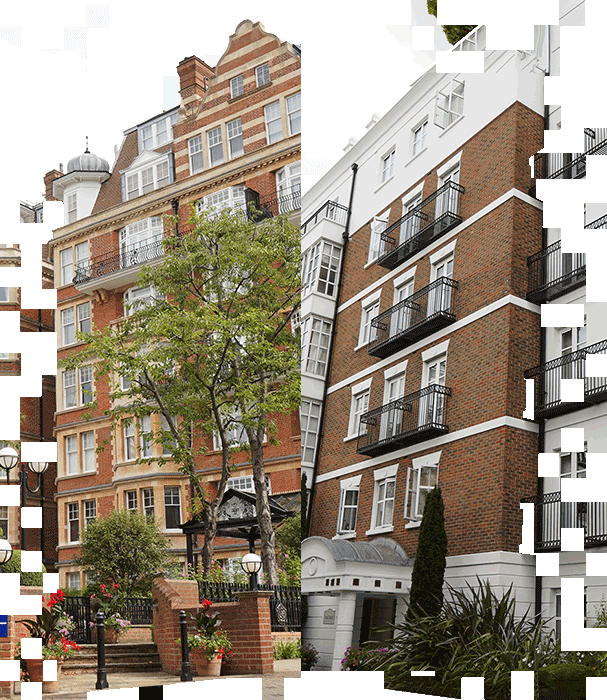 A picture of two apartments in London