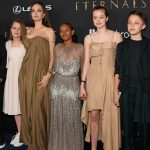 Angelina Jolie in a rare appearance with her children during the Eternals show… What did she mean?