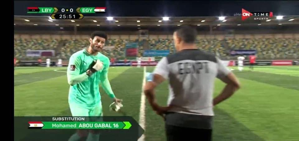 Why did Mohamed El-Shennawy get angry at Essam El-Hadary on the night of Egypt's victory over Libya?